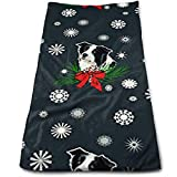 Biancheria da bagno, Beach Towel, Sports Towel, Hand Towels, Border Collie Christmas Bath Towels for Bathroom-Hotel-Spa-Kitchen-Set - Circlet Egyptian Cotton - Highly Absorbent Hotel Quality Towels