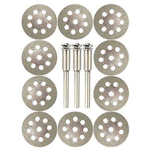 YA-Uzeun Diamant-Trennscheiben, doppelseitig, 10 Stück, A#20mm (Griff Bad Delta Knopf Wasserhahn)
