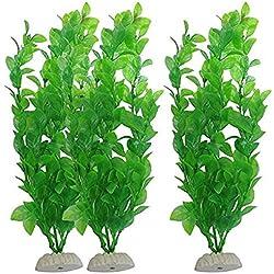 Busirde Künstliche grüne Algen Vivid Wasserpflanzen aus Kunststoff Aquarium Pflanzen Dekoration für Aquarium Green 3 * 12 * 26cm