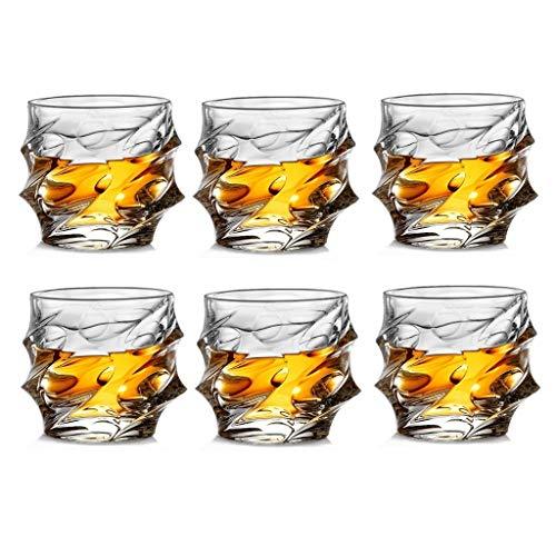 Verre Cristal Ensemble De 6 Pièces Verre Résistant À La Chaleur Verre À Whisky Verre À Vin Verre À Verre Verre À Bière Verre Tasse À Thé Tasse À Thé Wave 330ml JXLBB