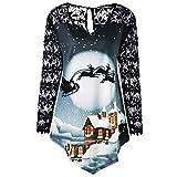 Sweat-Shirt Femme Grande Taille Hoodies Kpop Veste Pullover Pull Noel, Crop Top Lacet Dentelle Streetwear Blouson Pas Cher (Noir, XXL)