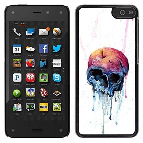 All Phone Most Case / Carino Immagine Rigida Custodia Duro protettiva Caso Cellulare Cassa / Hard Case for Amazon Fire Phone // Melting Apple Skull