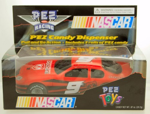 Kasey Kahne, Nascar (2005 - PEZ Toys - PEZ Candy Racing - Kasey Kahne #9 - NASCAR - Dodge Intrepid - Pull & Go Action - Limited Edition - Collectible by Nascar)