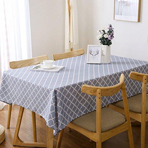 olyester Tischdecke Rechteck Tisch Bezug leichteres Stoff Tischdecke Dekorative Blütenmuster Wasserabweisend Tischdecke Modern 60