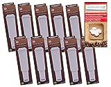 Human-Wellness 10 x Filterpatronen für Jura Impressa White steckbar + 10 Reinigungstabs