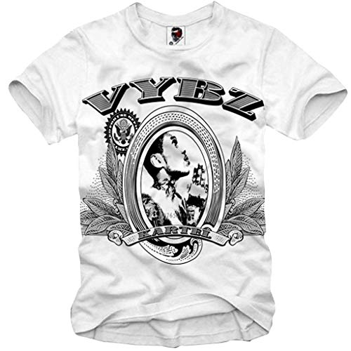acdcfcc779449 E1Syndicate T-Shirt VYBZ Kartel Reggae Dancehall Jamaica Weed Ganja S-XXL  White
