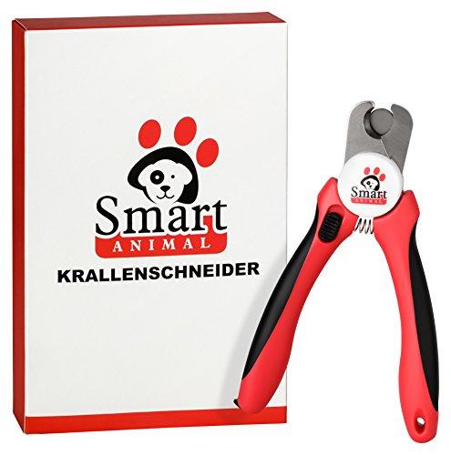 Smart Animal Professionelle Krallenzange – Krallenschneider für Krallenpflege für kleine, mittelgroße & große Hunde und Katzen mit integrierter Schutzvorrichtung und passender Nagelfeile - 5