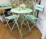 Keyhome Set Tavolo 2 sedie arredo Giardino in Ferro Color - 60x70
