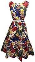 Vintage 50s Hepburn Dress Halter 1950s Style Beach Girl Print Pin Up Rockabilly Swing Dresses + Laundry Bag + Gift / Shopper Bag BOOLAVARD