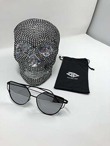 Panelize Sonnenbrille Elastisch Metallrahmen Stabil Getönt Gläser (Silber)