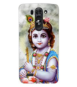 ColourCraft Lord Krishna Design Back Case Cover for LG D722K
