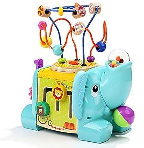 TOPBRIGHT- 5 En 1, Cubo de Actividades Elefante, Multicolor, Talla Única (Tb120384)