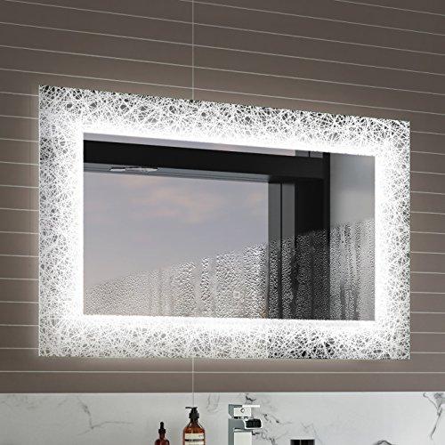 soak Specchio di Design per Bagno con Illuminazione a LED, Sensore Luce e Antiappannamento, 900 x 600 mm - 3