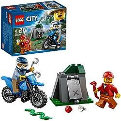 LEGO City - La poursuite en moto tout-terrain - 60170 - Jeu de Construction