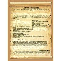 Le journal de naissance - Cadeau de naissance - Anniversaire -Idée Cadeau Original et personnalisé de 1 à 115 ans