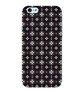Fuson Premium Back Case Cover Floral Pattern With Black Background Degined For Apple iPhone 6