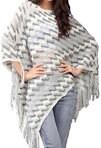 helan-femmes-tricot-chale-cape-manteau-avec-tassel-blanc