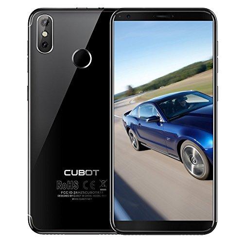 "Entsperrte Smartphones,Cubot R11 18: 9 5,5"" HD + Bildschirm Android 8.1 Handy MT6580 Quad Core 2 GB RAM 16 GB ROM Telefon 2800 mAh Dual Zurück Kameras Handy (CUBOT R11-Schwarz)"