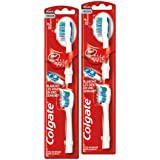 Colgate Recharge X 2 Brosse à Dents à Pile 360° Maxwhite One Medium Lot de 2
