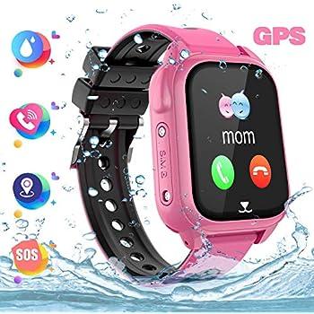 Reloj Inteligente Teléfono para niños Impermeable, GPS+LBS Rastreador Podómetro cámara SOS Pantalla táctil HD Conversación Bidireccional Reloj ...