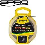 Spro Pike Fighter 7x7 Brown Soft Wire 10m - Stahlvorfach zum Hechtangeln, Vorfachmaterial für Spinnvorfach, Hechtvorfach, Durchmesser/Tragkraft:0.28mm / 13lb / 6.0kg Tragkraft