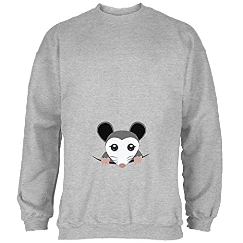 Spähen Possum Halloween Kostüm Herren Sweatshirt Heather MD (Old Man-kostüm Für Baby)