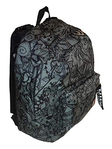 Zaino seven double project reversibile backpack digital+ nero e verde militare con cuffie nero