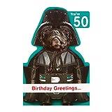 """Hallmark Geburtstagskarte zum 50. Geburtstag, Motiv: Star Wars """"Bark Side"""", mittelgroß"""