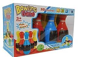 Allkindathings Juguete Infantil 3D 6 x Pin Bowling Set Color Juego con Sonidos y Luces Intermitentes