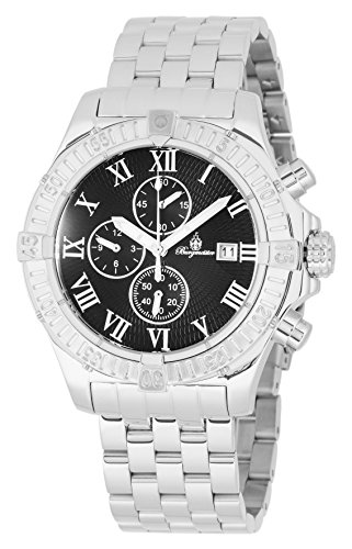 Burgmeister BM357-121 Meyrin, Gents watch, Analogue display, Chronograph with Citizen Movement - Water resistant, Stylish leather strap, Classic men's watch