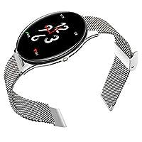vap26 SN58 Colorful Display Smart Watch Sleep Monitor Waterproof Gift Stainless Steel(Silver)