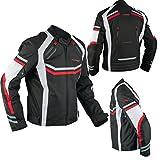 A-Pro Motorradjacke Sport Textil Entlüftet CE Protektoren Wasserdichte Orange L