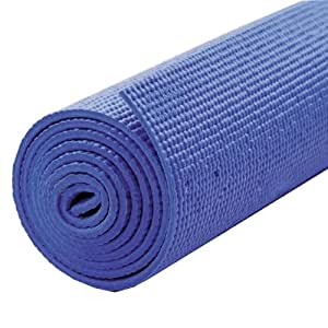 Yoga Mat - Extra Long 183cm x 61cm - Non Slip Exercise/Gym/Camping/Picnic Mat (Blue)