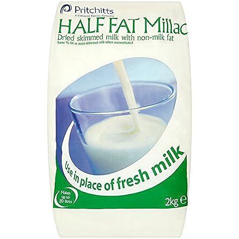 Millac La mitad de grasa leche desnatada en polvo con grasa no Leche - 1 x 2 kg