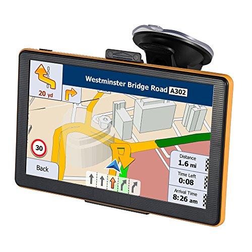 7 Zoll Navi mit Touchscreen LKW Navigation für Auto Enthalten die neuesten Karten für Großbritannien und die EU und lebenslange Karten-Updates