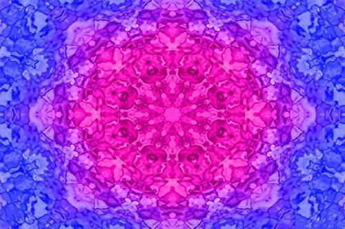 Puzzle 1000 Piezas Para Adultos De Madera Niño Rompecabezas-Mandala Azul Morado-Juego Casual De Arte Diy Juguetes Regalo Interesantes Amigo Familiar Adecuado