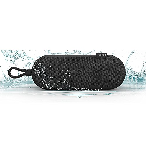 Fugoo Go Portable Bluetooth Speaker (Black) Shock-proof, dust-proof and 100% waterproof