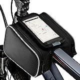 """Sacca telaio bicicletta, Topist 13,97 cm (5,5"""") Mountain Bike antiurto per bicicletta, frontale con Touch-Borsa da bicicletta per sellino, con tasca per iPhone 6/5S, 6S, per Samsung Galaxy S3, S4, Note e altri sotto 13,97 (5,5"""") cellulare cm"""