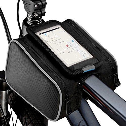 """Fahrradtasche, Topist Wasserdicht Fahrrad Rahmentaschen, Radtasche Gepäckträger, Cruiser Bag Geeignet für iPhone 7 6S 6 und andere unten 5,5"""""""