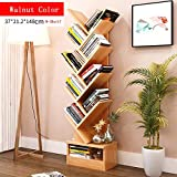 CLEAVE WAVES 9-Shelf Tree-Shape Bookshelf Display Storage Organizer Freistehendes Bücherregal 14,5