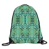 Dama Home Peacock-3 Drawstring Backpack Rucksack Shoulder Bags Sport Gym Bag Travel