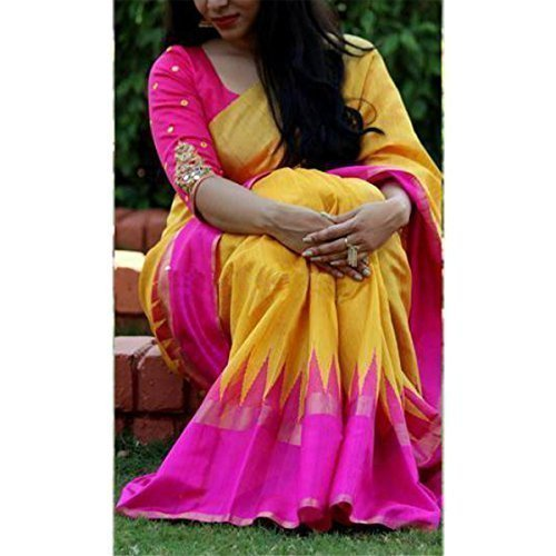 Saree(Clothsfab Saree For Women Party Wear Half Sarees Offer Designer Below 500 Rupees Latest Design Under 300 Combo Bhagalpuri Silk New Collection 2017 In Latest With Designer Blouse Beautiful For Wo