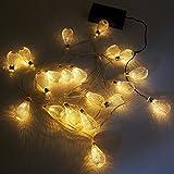 Luce Striscia Catena Luminosa di Albero di Natale LED a Batteria Goccia di...