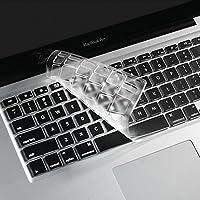 i-Buy - 2 fundas protectoras de silicona para teclado de MacBook Air 13 Pro, 15, [teclado UE] TPU Trasparente Macbook 13&15(Italiano)