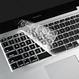 i-Buy Français Clavier Coque de Protection / Couverture AZERTY pour MacBook Air 13' Pro 13' 15' 17' - Transparent / Clair