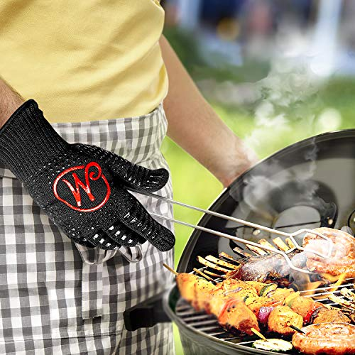 51g0UeFlNSL - Mansons Grillhandschuhe - Extrem hitzebeständige Topfhandschuhe bis 500 °C - Ofenhandschuhe für Küche & Grill - Feuerfeste Kochhandschuhe mit extra langem Unterarmschutz | Hitzeschutzhandschuhe