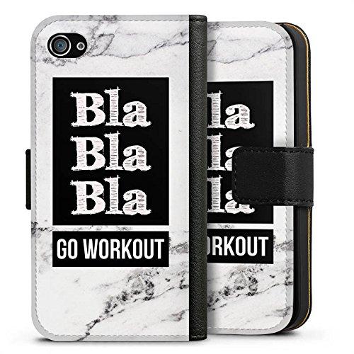 Apple iPhone X Silikon Hülle Case Schutzhülle Workout Fitness Spruch Sideflip Tasche schwarz
