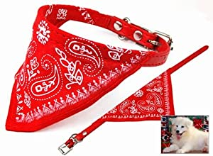 WMA Small Pet Dog Puppy Cat Neck Scarf Bandana Collar with neckerchief from WMA