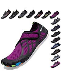 SCIEU Mens Women Barefoot Water Shoes Sports Aqua Shoes Swim Shoes for Beach Yoga Running Surfing Diving Boating Driving with Quick Dry Lightweight