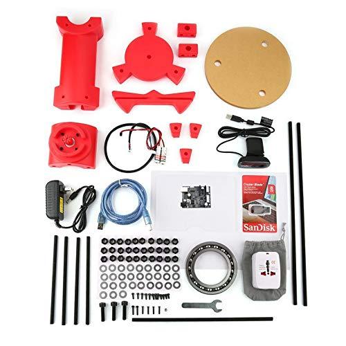 Preisvergleich Produktbild Laser-Tischplatten-Scanner-Platten-Satz des DIY 3D mit Adapterobjekt für Ciclop-Drucker-Rot